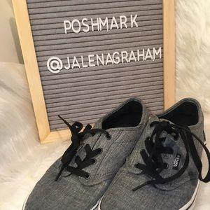 Gray vans sneakers 6 youth
